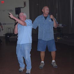 Friends Butch & Mike sing their hearts out