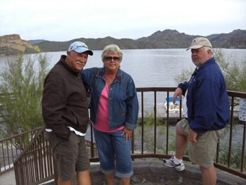 Mike, Claudia & Paul enjoying the lake