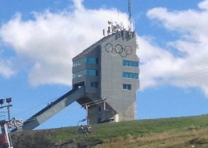 The Ski Jump tower